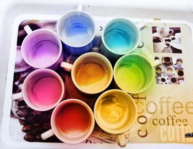 彩虹咖啡壁纸