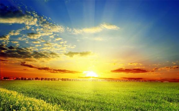 高清夕阳景色图片壁纸
