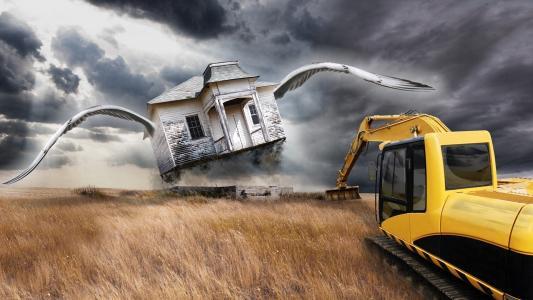房子,翅膀,车,领域
