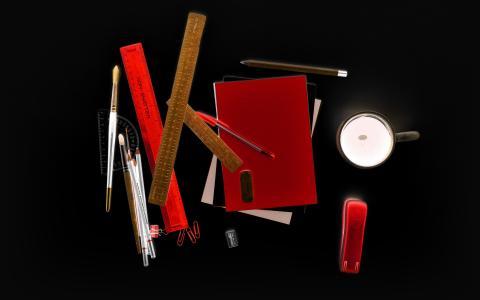 建筑师,表格,工具,暗