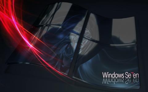 窗口,徽标,七,窗口七,微软,线