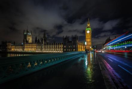 泰晤士,威斯敏斯特宫,大本钟,伦敦,英国,英格兰