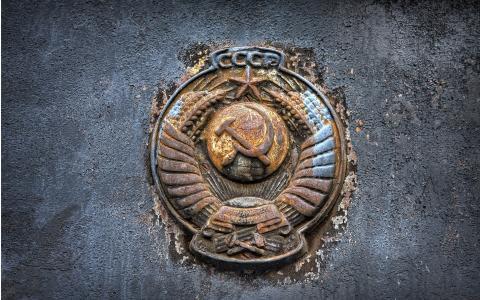 徽标,纹章,状态,金属,锈迹