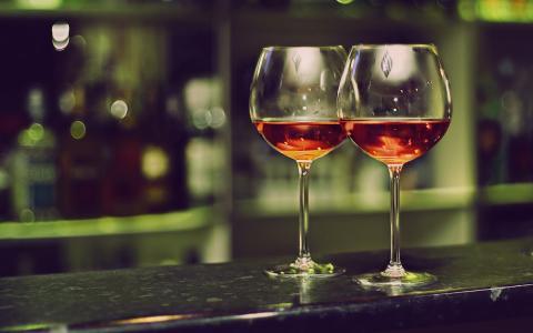 酒,酒吧,眼镜,新的一年