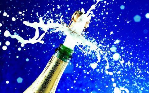 香槟,酒,瓶,射击,喷雾