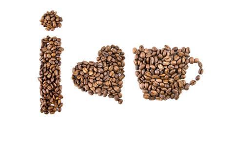 咖啡豆,一杯咖啡,我爱咖啡