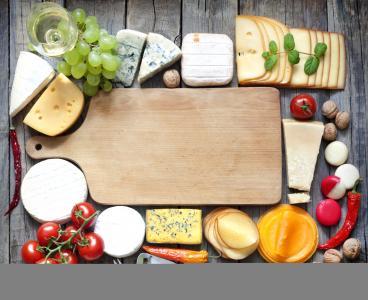 葡萄酒,板子,玻璃杯,核桃,奶酪