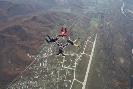 跳伞运动员,身高,天空,悬停,自由