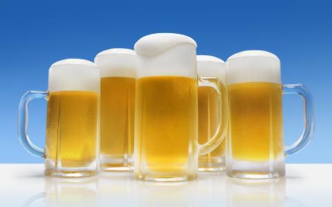 啤酒,眼镜,泡沫,凉爽