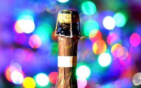 瓶,假期,酒