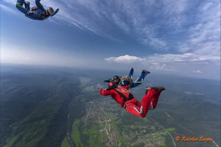 伞兵,天空,飞行,自由