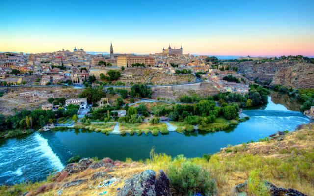 西班牙,家,河,托莱多