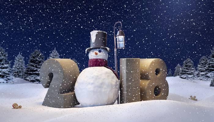 壁纸雪人,新年,雪,雪,新年快乐,冬天,2018年,雪花,雪人,装饰,冬天