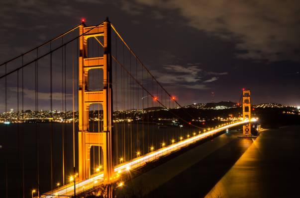 金门大桥点燃高清壁纸