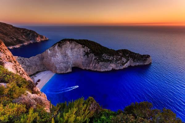 海,岛,希腊,爱奥尼亚群岛,Navagio,海滩