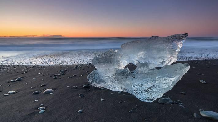 冰在海边,冰岛高清壁纸