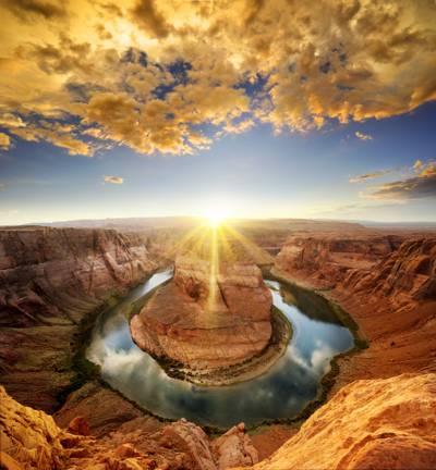 亚利桑那州空中照片马蹄铁床高清壁纸