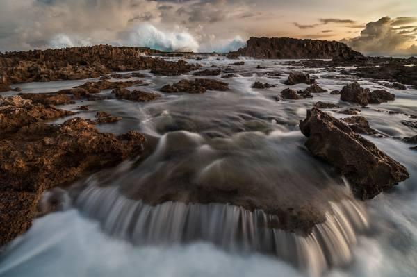线程,海,波浪,自然,岩石,石头