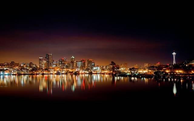 城市,华盛顿,城市,美国,西雅图