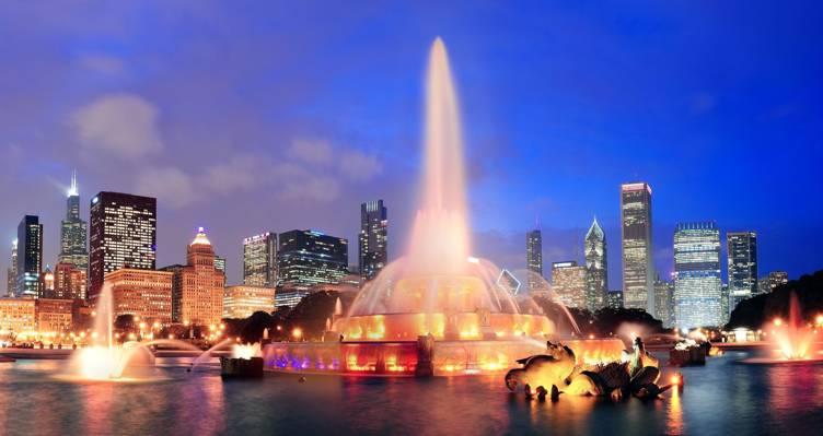 芝加哥,美国,城市,芝加哥,伊利诺伊州,这个城市