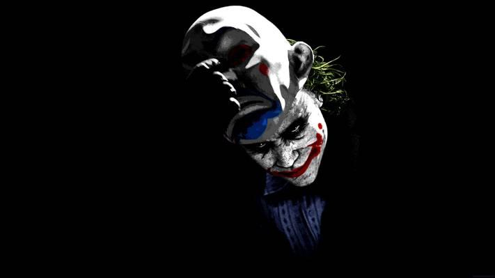 面具,小丑,面具,黑暗骑士,小丑,希斯·莱杰,希斯·莱杰