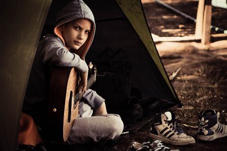 鲤鱼, 自然, 拖鞋, 年轻的成年人, 成人, 一个人, 肖像