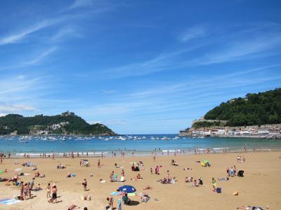 圣塞巴斯蒂安, 西班牙, 海滩, 海洋, 地中海, 沙子