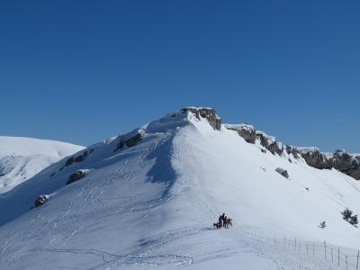 徒步旅行, 山, 冬天, 雪, 白色, 阿尔卑斯山, 海拔高度