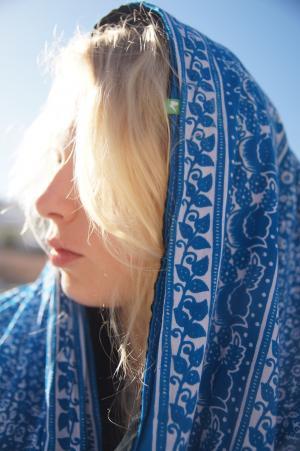 金发女郎, 太阳, 围巾, 面纱, 摩洛哥, 假日, 旅行