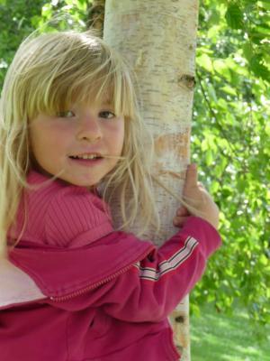 女孩, 树, 头发, 金发女郎, 戏剧, 自然, 出