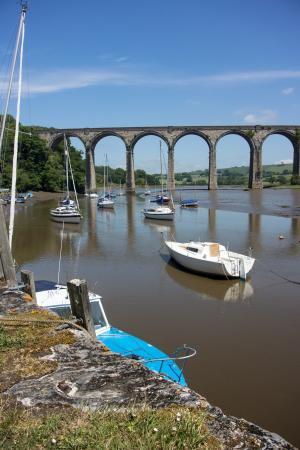 高架桥, 河, 小船