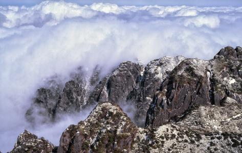 山, 云计算, 屋久岛, 世界遗产地区, 1 个月, 日本, 岩石-对象