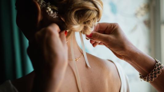 美丽, 金发女郎, 手镯, 新娘, 时尚, 女孩, 发型