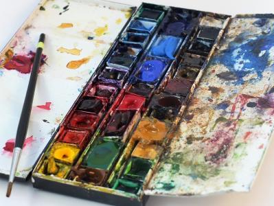 水彩颜料, 艺术家绘画, 水彩, 油漆, 颜色, 艺术, 设计