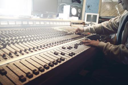 录音室, 录音, 推子, 混音器, 音乐, 声音, 工作室