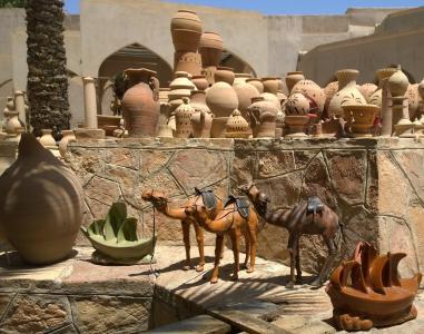 阿曼, 骆驼, 旅行, 阿拉伯, 旅游, 纪念品, 花盆