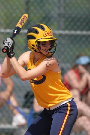 垒球, 面糊, 女性, 游戏, 竞争, 青少年, 蝙蝠