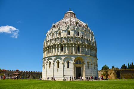 比萨, 教会, 托斯卡纳, 意大利, 建筑, dom, 建设