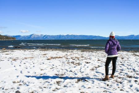 太浩湖, 冬天, 女孩, 体育, 健康, 生活方式, 娱乐