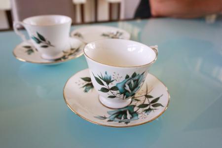茶, 茶杯, 年份, 飞碟, 下午, 花香, 中国