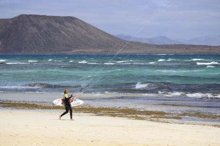 海洋, 体育, 风筝冲浪, 放风筝